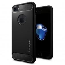 Original Spigen SGP Rugged Armor Case (Black) for Apple iPhone 7
