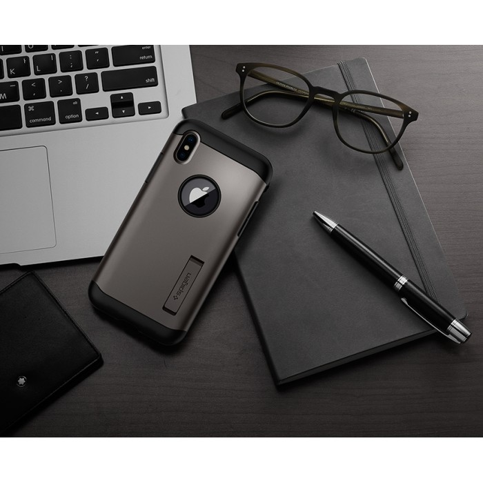 new product 977bc 6dea7 Original Spigen Slim Armor Case for Apple iPhone X Malaysia
