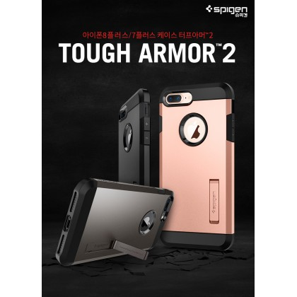 Original Spigen Tough Armor 2 Military Grade Case for Apple iPhone 8 Plus/7 Plus