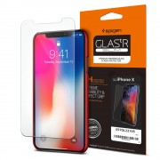 Original Spigen Glas.tR Slim HD Premium Tempered Glass for Apple iPhone X
