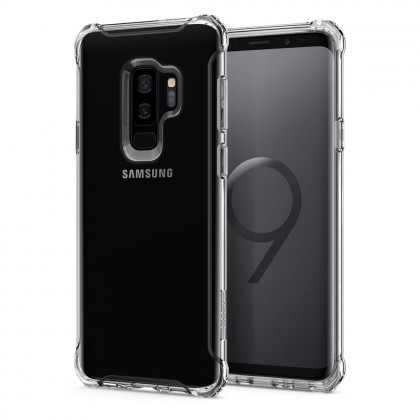 Original Spigen Rugged Crystal Clear Case for Samsung Galaxy S9