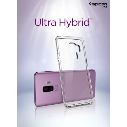 Original Spigen Ultra Hybrid Clear Case for Samsung Galaxy S9