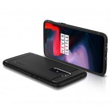 Original Spigen Rugged Armor Case (Black) for OnePlus 6