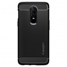 Original Spigen Rugged Armor Case (Black) for OnePlus 6
