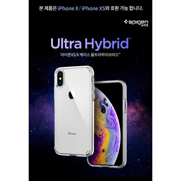 new product 538d8 f9a1d Original Spigen Ultra Hybrid Clear Case Apple iPhone XS Malaysia