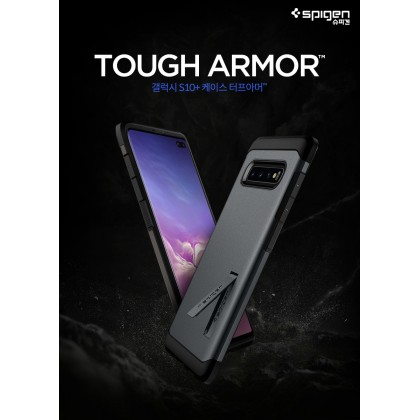 Original Spigen Tough Armor Kickstand Case for Samsung Galaxy S10 PLUS