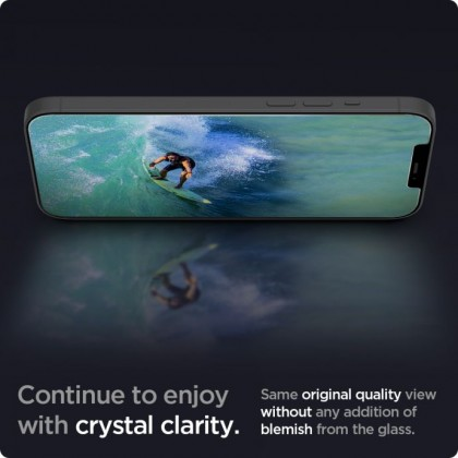Original Spigen Glas.tR Slim HD / Full Coverage Tempered Glass Screen Protector Apple iPhone 12 / 12 Pro / 12 Pro Max