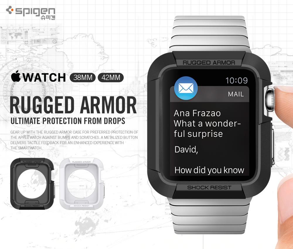 finest selection 3b49e d8b5b Original Spigen Rugged Armor Case for Apple Watch 42mm