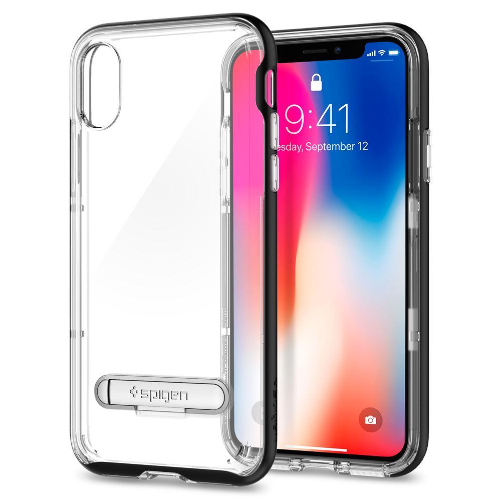 Original Spigen Malaysia Crystal Hybrid Kickstand Case For Apple Galaxy Note 8 Casing Black Iphone X
